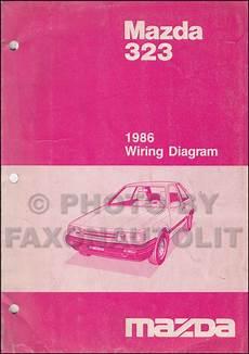 1986 mazda 323 repair shop manual original
