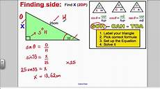 trigonometry sohcahtoa gcse higher maths youtube