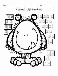 3 digit addition with regrouping coloring worksheets 9704 addition with regrouping coloring pages riddles and qr code activities