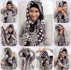 Kreasi Cara Memakai Jilbab Monochrome Segi Empat