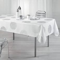 Nappe Anti Tache Rectangle 150 X 240 Cm Platine Blanc