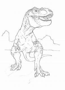 dino rex malvorlage kinder zeichnen und ausmalen