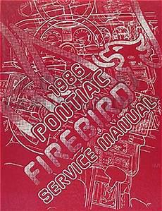 1984 pontiac firebird trans am repair shop manual 1986 pontiac firebird trans am repair shop manual original