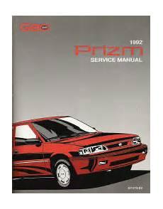small engine service manuals 1992 geo prizm regenerative braking 1992 chevrolet geo prizm s platform factory service manual