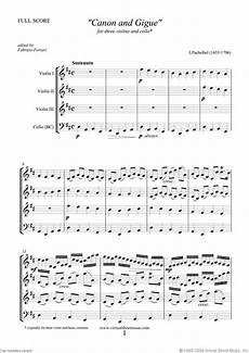 pachelbel canon in d sheet music for three violins and cello
