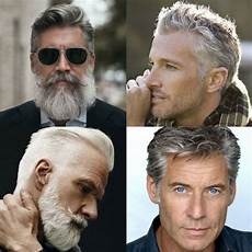 21 best men s hairstyles for silver and grey hair men