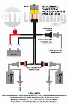 hid headlight conversion kit wiring diagram do i need a relay harness and how do you install it gtr lighting
