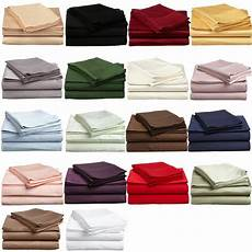 king deep fitted sheet king size extra deep pocket 1 pc fitted sheet 1200 tc cotton solid ebay