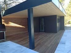 construction d un abri de jardin design en ossature bois