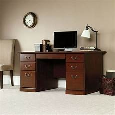 sauder home office furniture sauder 109830 heritage hill executive desk the