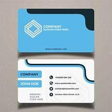Blackbird Business Card Template Simple Blue Business Card Template Vector Free