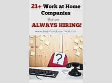 legitimate work from home employment