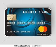 eps vector of blue credit card banking concept blue