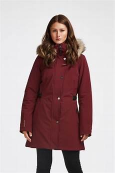 manteau d hiver pour femme couleur bordeaux audvik