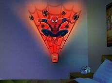 spiderman wall light argos wild walls spiderman wall stickers 15 decal with light sounds marvel superhero ebay
