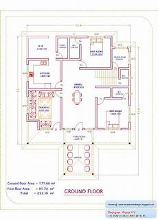 kerala house floor plans kerala home plan and elevation 2726 sq ft home appliance