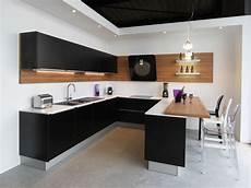 Meuble De Cuisine Noir Laqué Cuisine Design Laqu 233 E Noir Satin 233 Fabrimeuble Cuisines