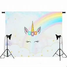 5x3ft 7x5ft Rainbow Gold Unicorn Photography by 5x3ft 7x5ft Rainbow Clouds Sky Unicorn Photography