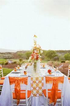 Orange White Wedding Theme