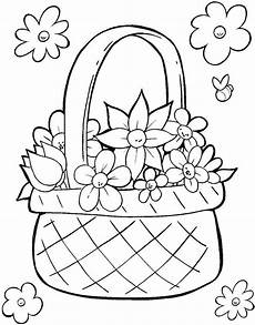 Malvorlagen Ostern Einfach Flower Basket Colouring Pages At Getcolorings Free