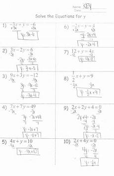 solving systems of linear equations by substitution worksheet answers the best worksheets image
