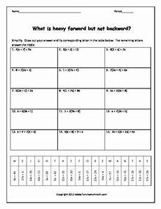 combining like terms with distributive positives only worksheet bundle