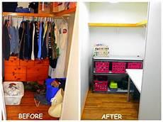 4eighteen closet turned craft room