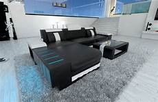 sofa mit led eckcouch design bellagio l form sofa mit led beleuchtung