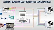 diagrama de conexiones cit 243 fonos intec a 5 hilos al frente de calle con cable utp youtube