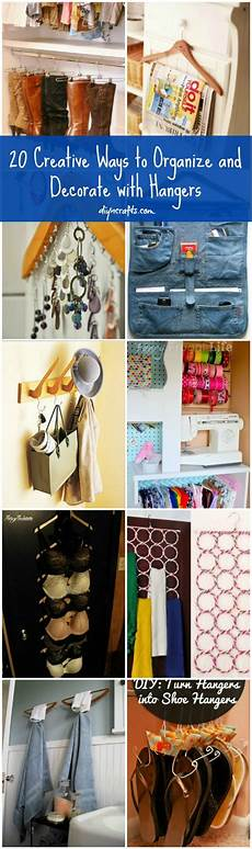 20 creative ways to organize and decorate with hangers diy crafts