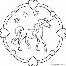 Ausmalbilder Gratis Ausdrucken Einhorn Einhorn Kostenloses Mandala Ausmalbild