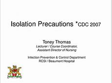 cdc guidelines for isolation precautions 2019