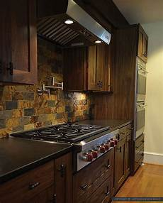 Slate Kitchen Backsplash Brown Gray Subway Slate Backsplash Tile Backsplash