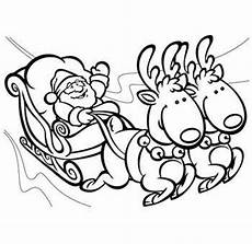 santa and his sleigh coloring pages santa sleigh and