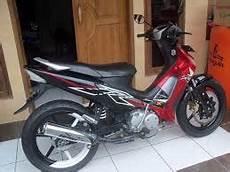 Modifikasi Motor Bebek Supra by Modifikasi Motor Supra X 125 Monoshock Velg Racing
