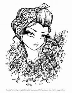 tattoo darlings free sle coloring page rockabilly girl