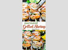 Marinated Grilled Shrimp {and Your Feel Good Foods}   The