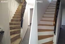 Habillage D Un Escalier En B 233 Ton Avec Des Marches En Bois