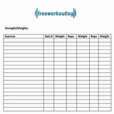 free 8 workout log templates in pdf doc