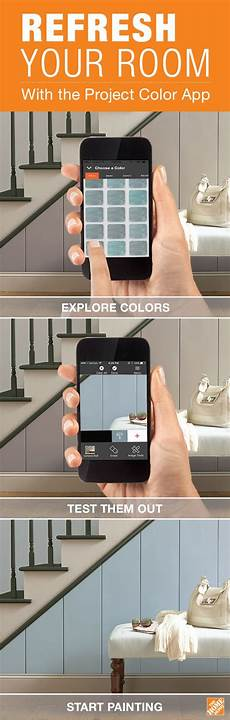 the project color app by the home depot allows you to try out paint colors virtually when you
