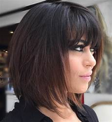 47 medium length haircuts with bangs eazy glam