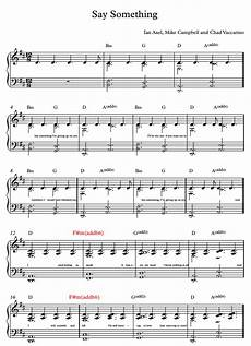 say something sheet music sheet music and piano tutorial