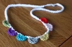 splendid twisted felt garland necklace or bracelet buttons crochet bracelet necklace garland tie back
