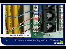 how to install leviton category 5e module installation levitonproducts com youtube