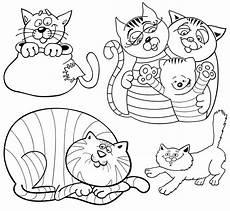 Malvorlagen Katzen Quiz Kostenlose Malvorlage Tiere Viele Katzen Zum Ausmalen Zum