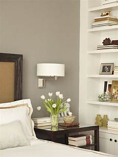 sophisticated bedroom with warm gray walls paint color chocolate definitely a we