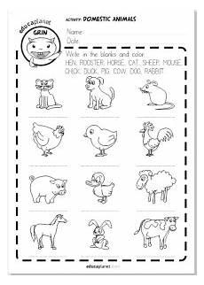 domestic animal worksheets 14291 animales domesticos ficha imprimible infantil gratis educaplanet apps