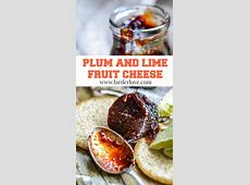 plum jam with lime and ginger_image