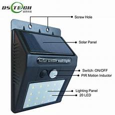 factory price 20 led solar powered security wall ls