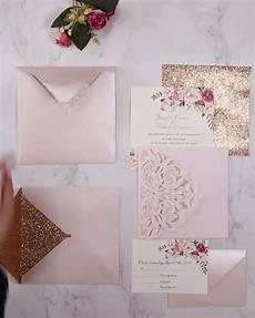 blush pink spring flower glittery laser cut